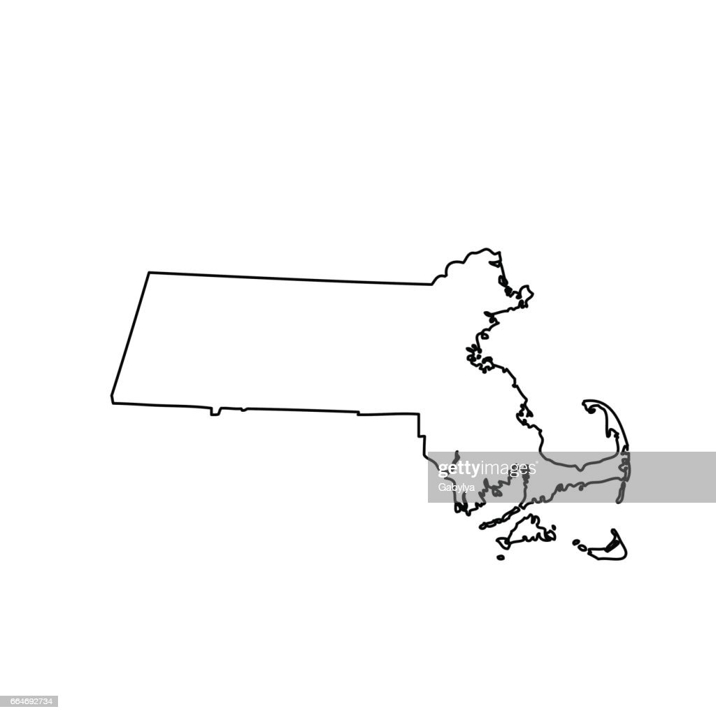 map of the U.S. state Massachusetts