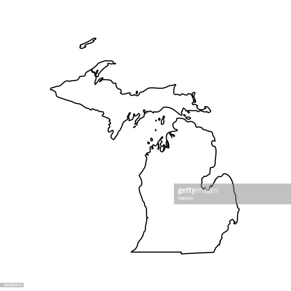map of the U.S. state Michigan