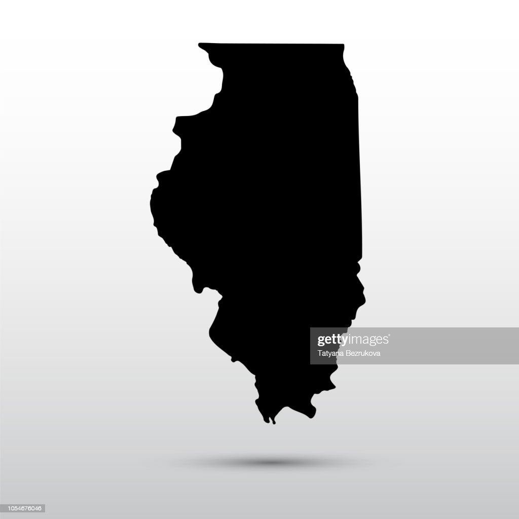 Map of the U.S. state of Illinois.