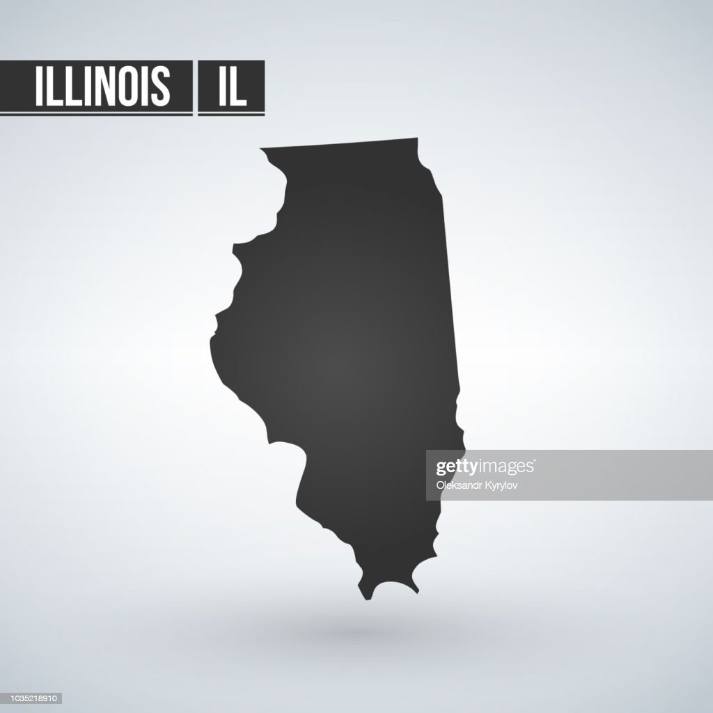 map of the U.S. state of Illinois. vector illustration.