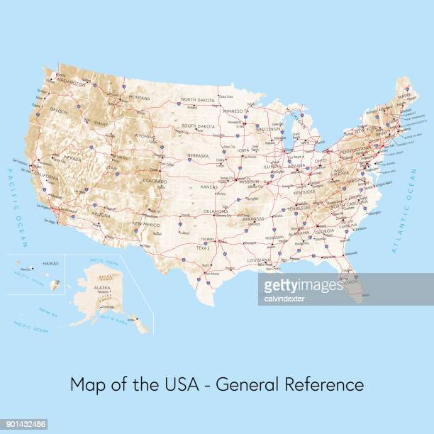 Map of the USA general reference