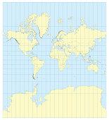 Map of the world Mercator