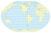 Map of the World Winkel Tripel America