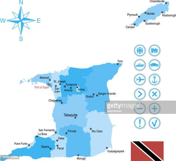 World\'s Best Trinidad And Tobago Stock Illustrations - Getty ...