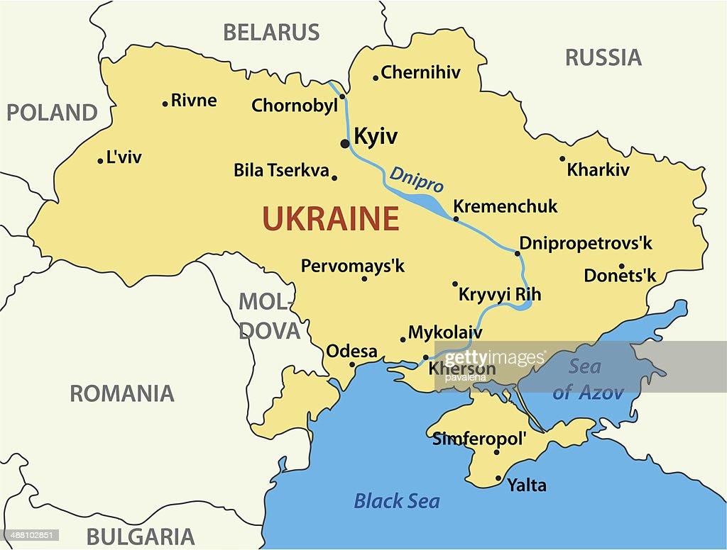 map of Ukraine - vector illustration