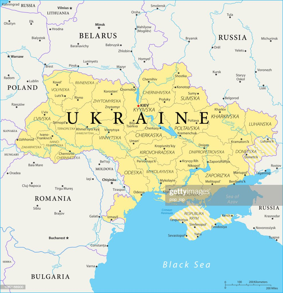 Map Of Ukraine Vector High Res Vector Graphic Getty Images