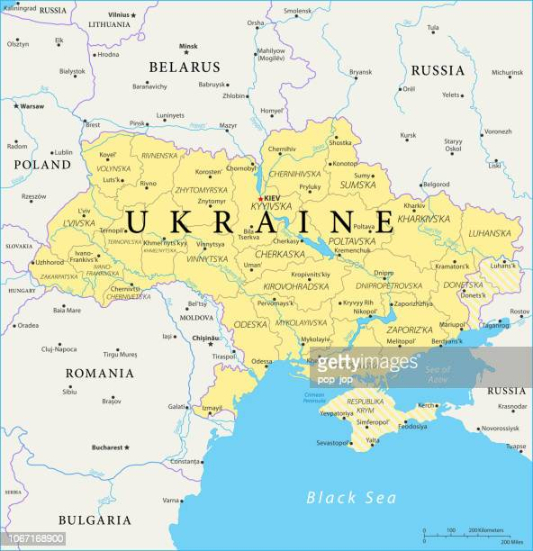 map of ukraine - vector - ukraine stock illustrations