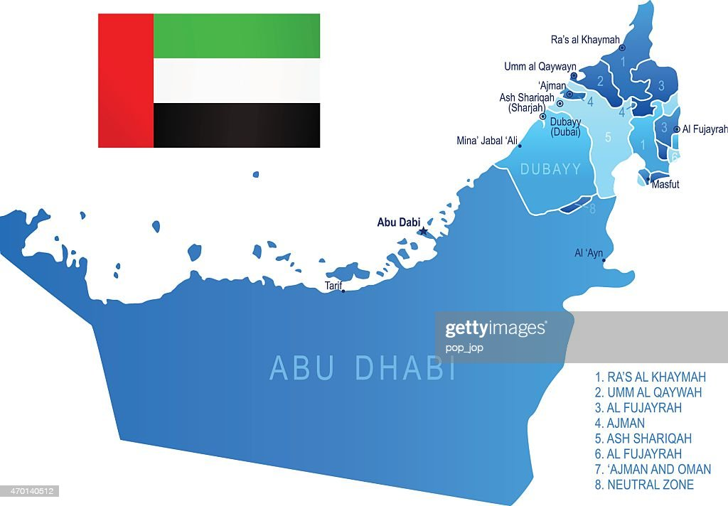 Map of united arab emirates vector art getty images map of united arab emirates vector art gumiabroncs Images