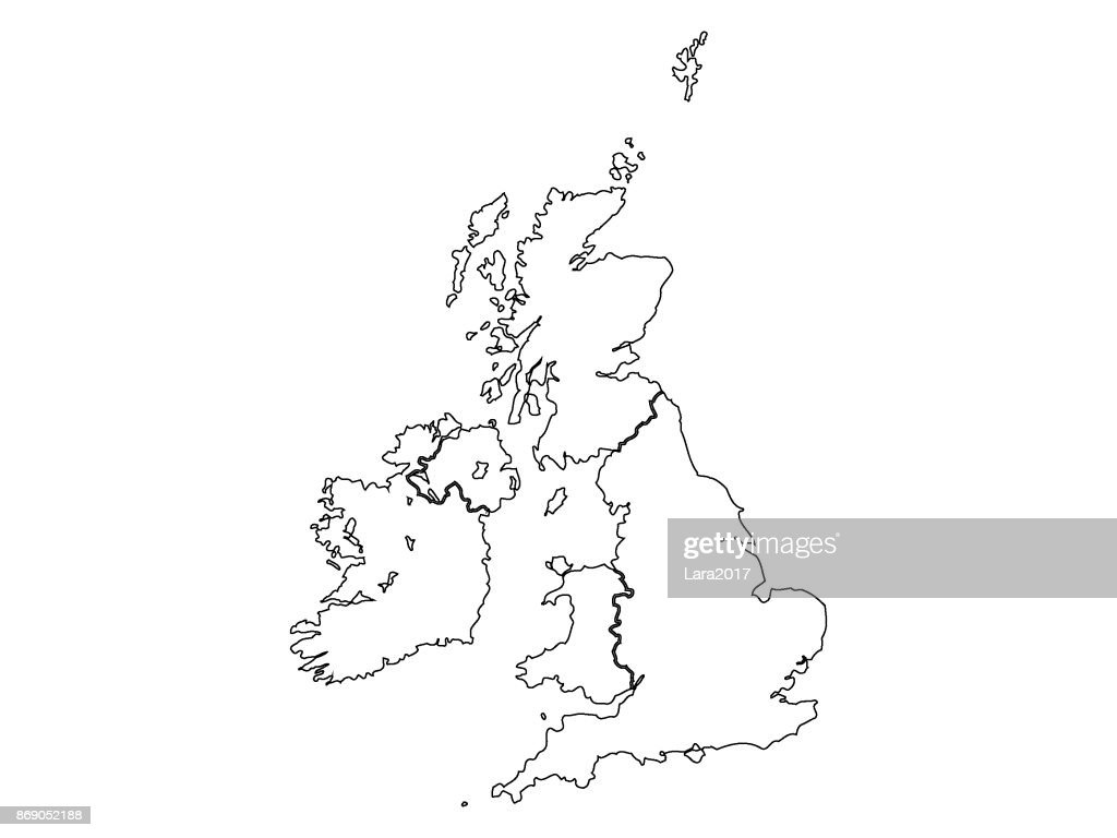 Map of United Kingdom and Ireland