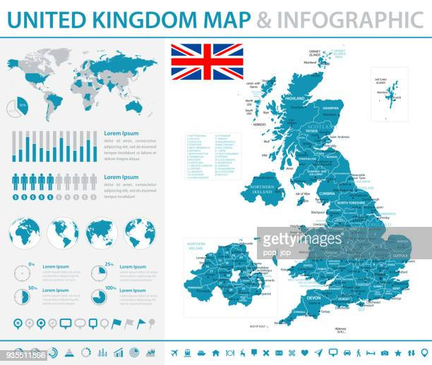 Map of United Kingdom - Infographic Vector