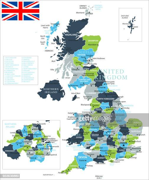 Map of United Kingdom - Vector