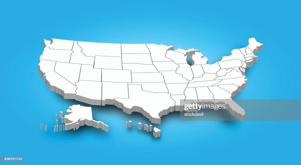 3D Map of United state of america