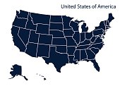Map of United Stated of America
