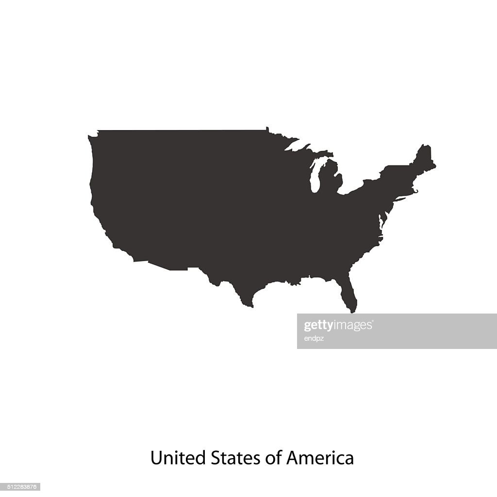 Map of USA for your design