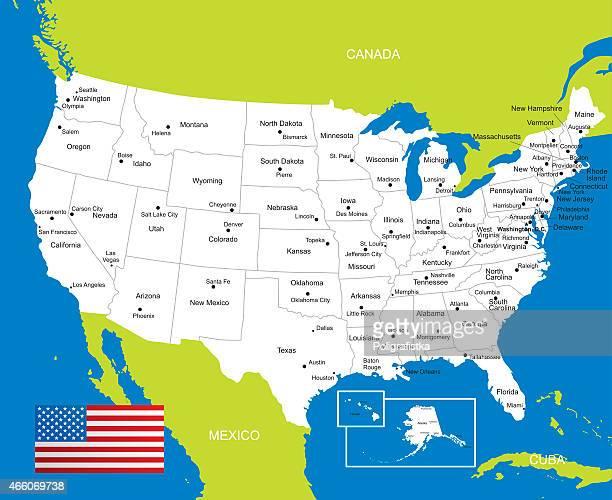 ilustraciones, imágenes clip art, dibujos animados e iconos de stock de mapa de estados unidos - maryland us state