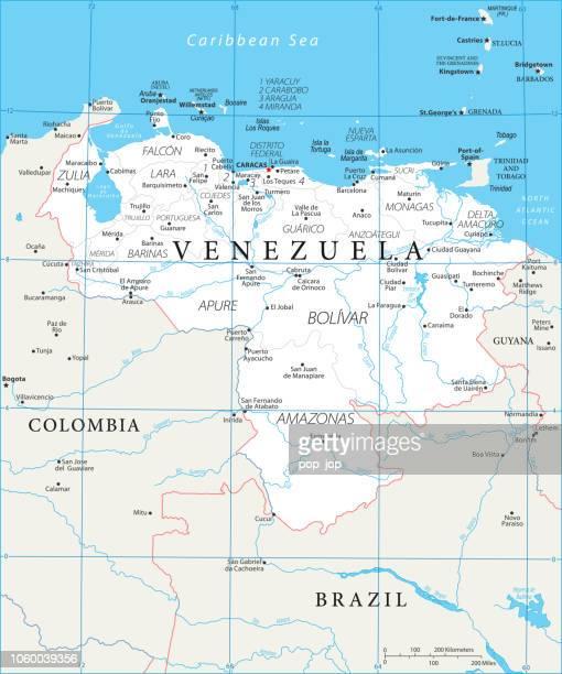 Map of Venezuela - Vector