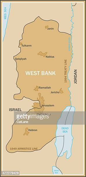 map of west bank - historical palestine stock illustrations