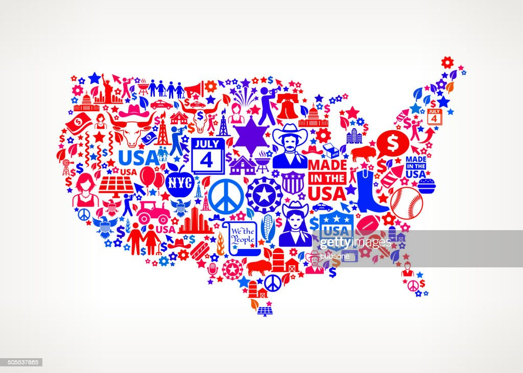 Us Map On American Royalty Free Vector Art Pattern Vector Art ...