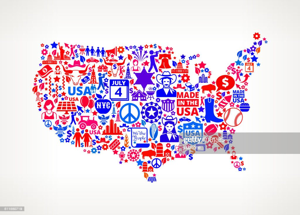 Us Map On American Royalty Free Vector Art Pattern Vector Art - Free Us Vector Map