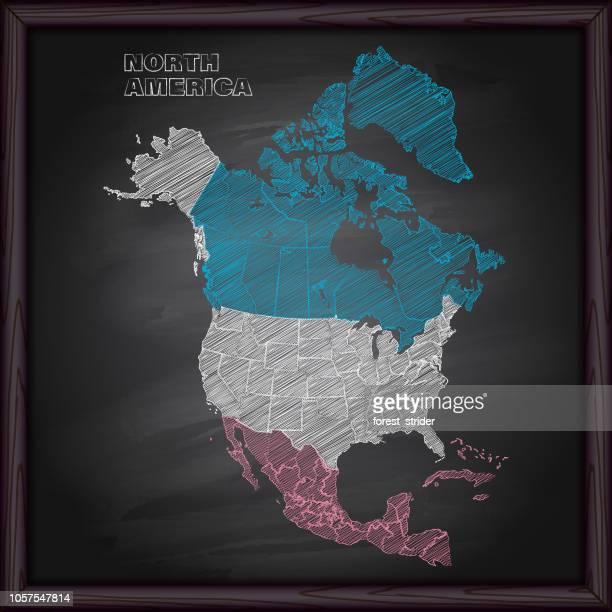 usa map on blackboard - virginia us state stock illustrations