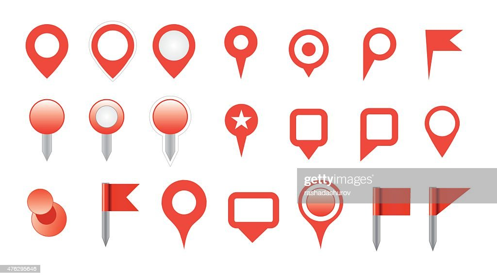 map pin icon set