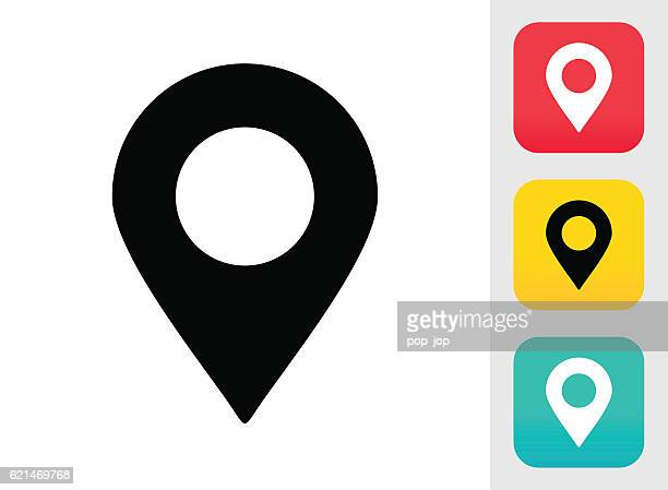 map pin icon - travel tag stock illustrations, clip art, cartoons, & icons