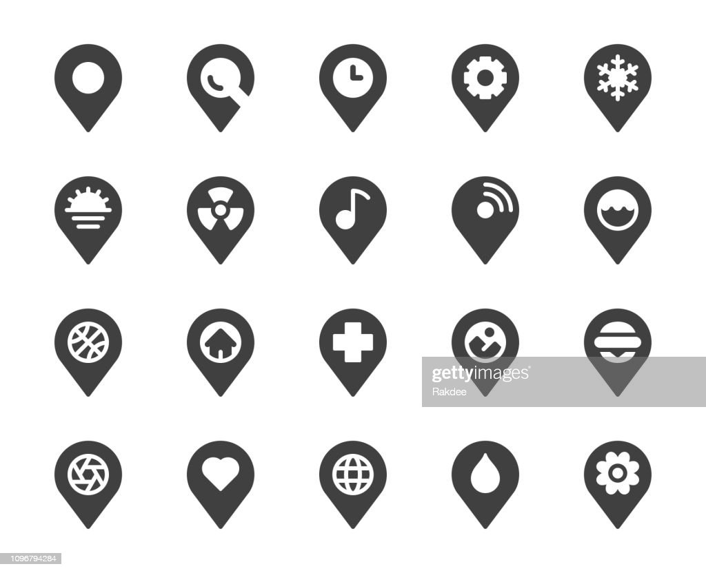 Map Pin Pointer - Icons : stock illustration