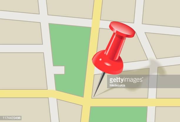 ilustrações de stock, clip art, desenhos animados e ícones de map pin street - colocar