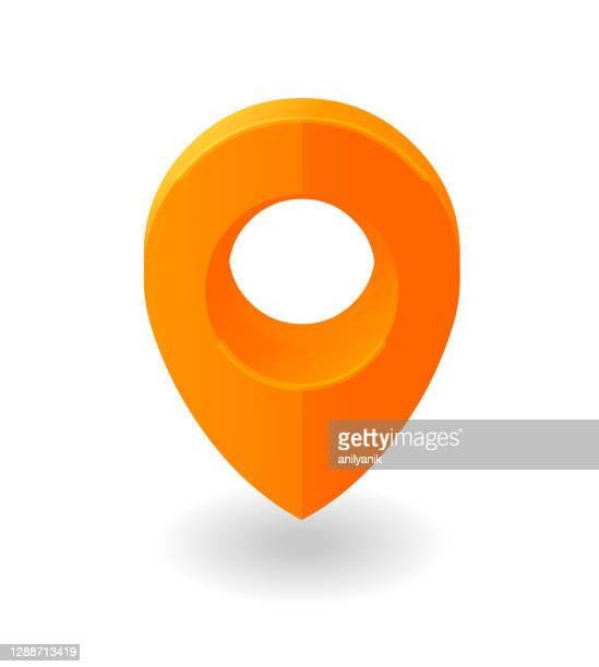 map pin - brooch stock illustrations