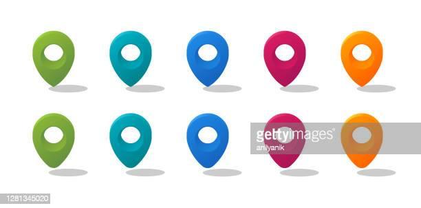 map pins - brooch stock illustrations
