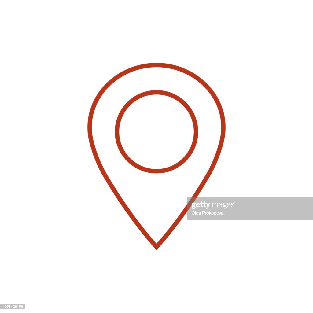 Map pointer icon. GPS location symbol. Flat design style. Vektor EPS 10.