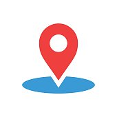 Map pointer in flat style. Gps navigation mark illustration on white isolated background. Pointer destination concept.