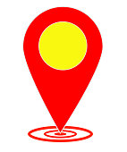 map pointer on white background. flat style. map pin sign. map symbol. compass location icon.