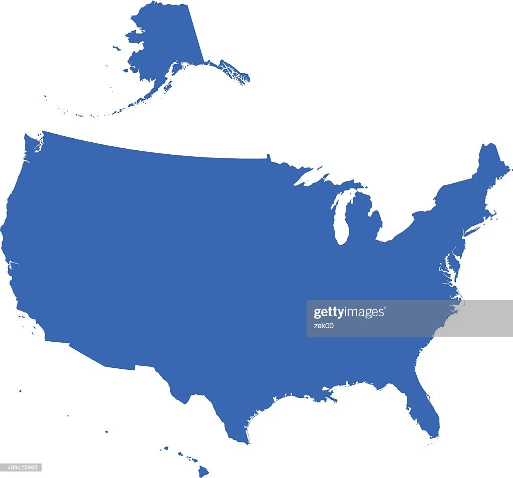USA Map silhouette
