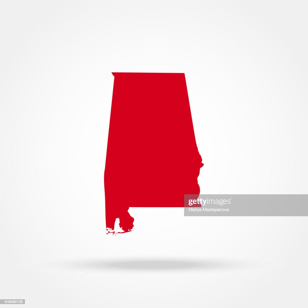 map state of Alabama