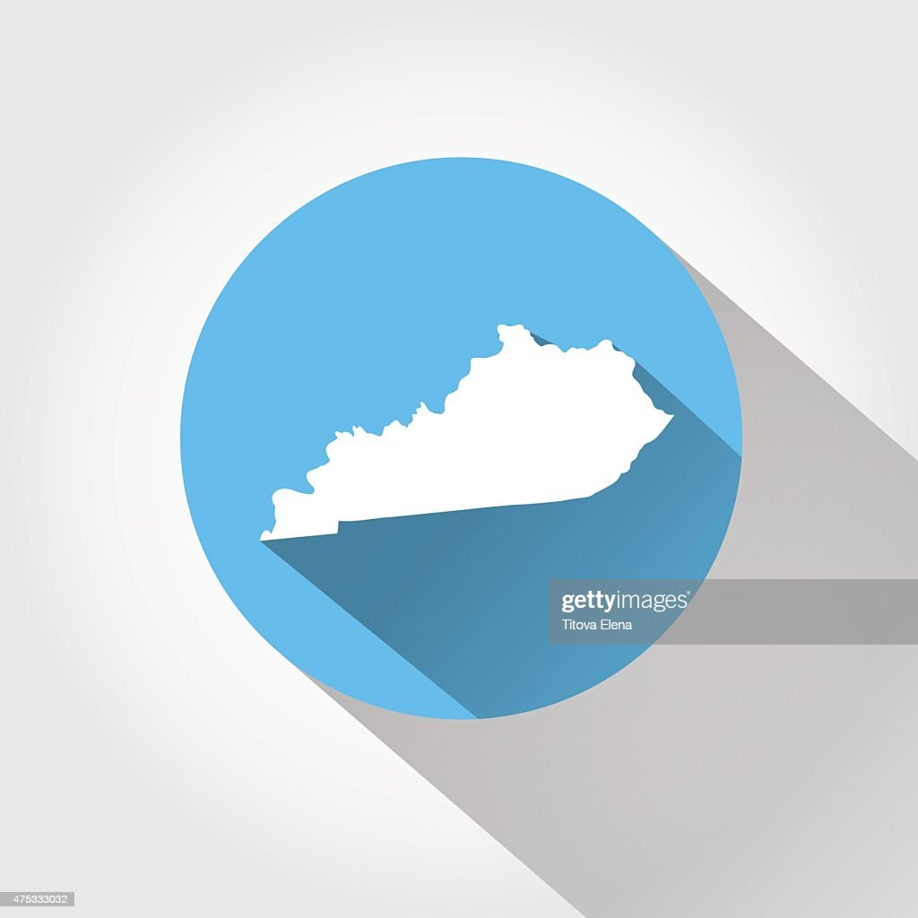 Map state of Kentucky