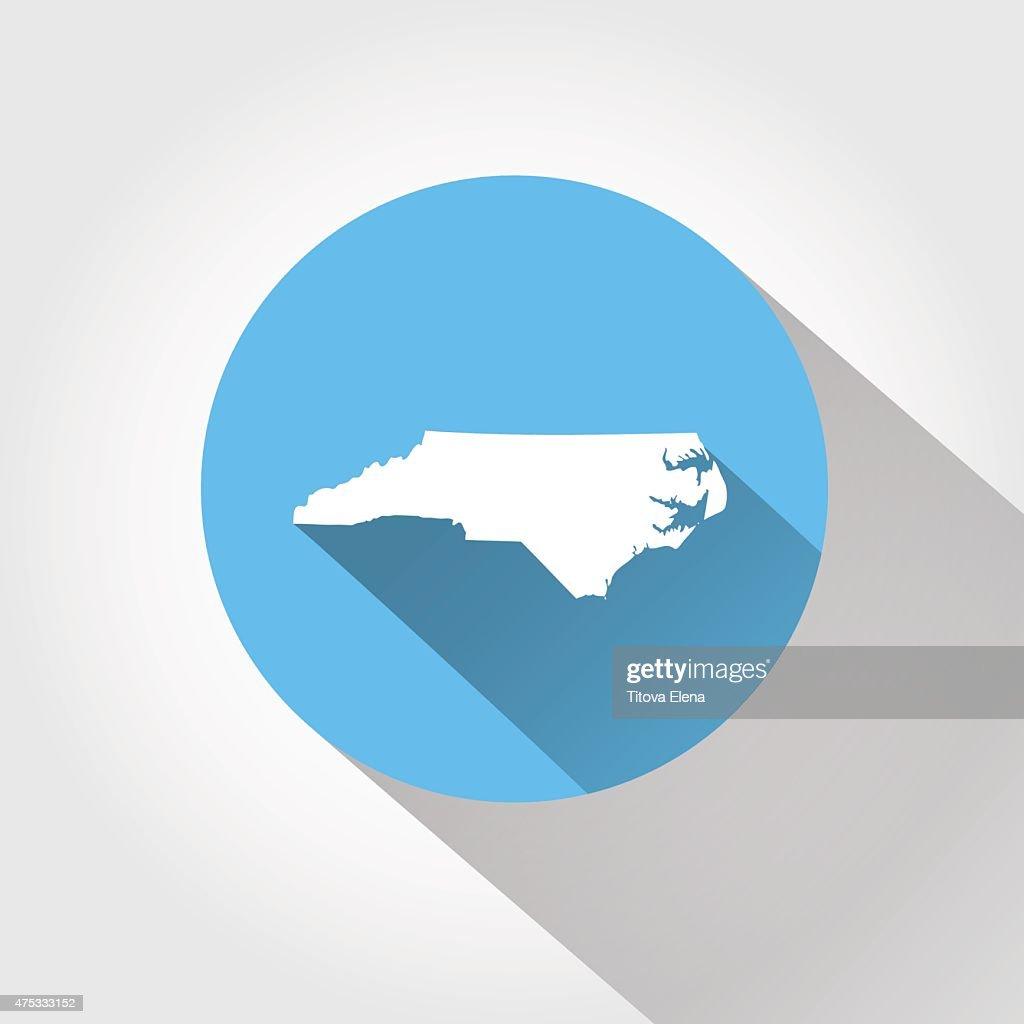 Map state of North Carolina