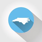 Map state of North Carolina