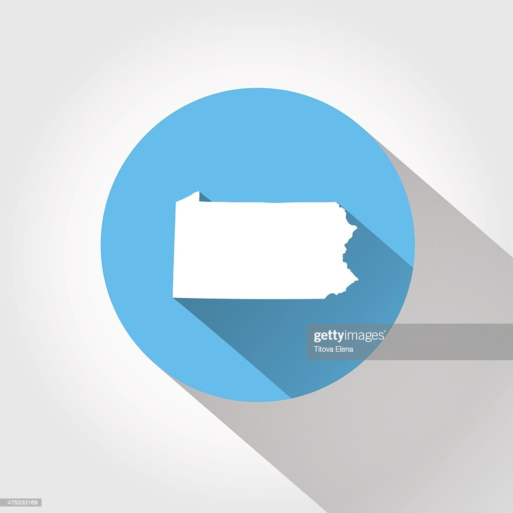 Map state of Pennsylvania