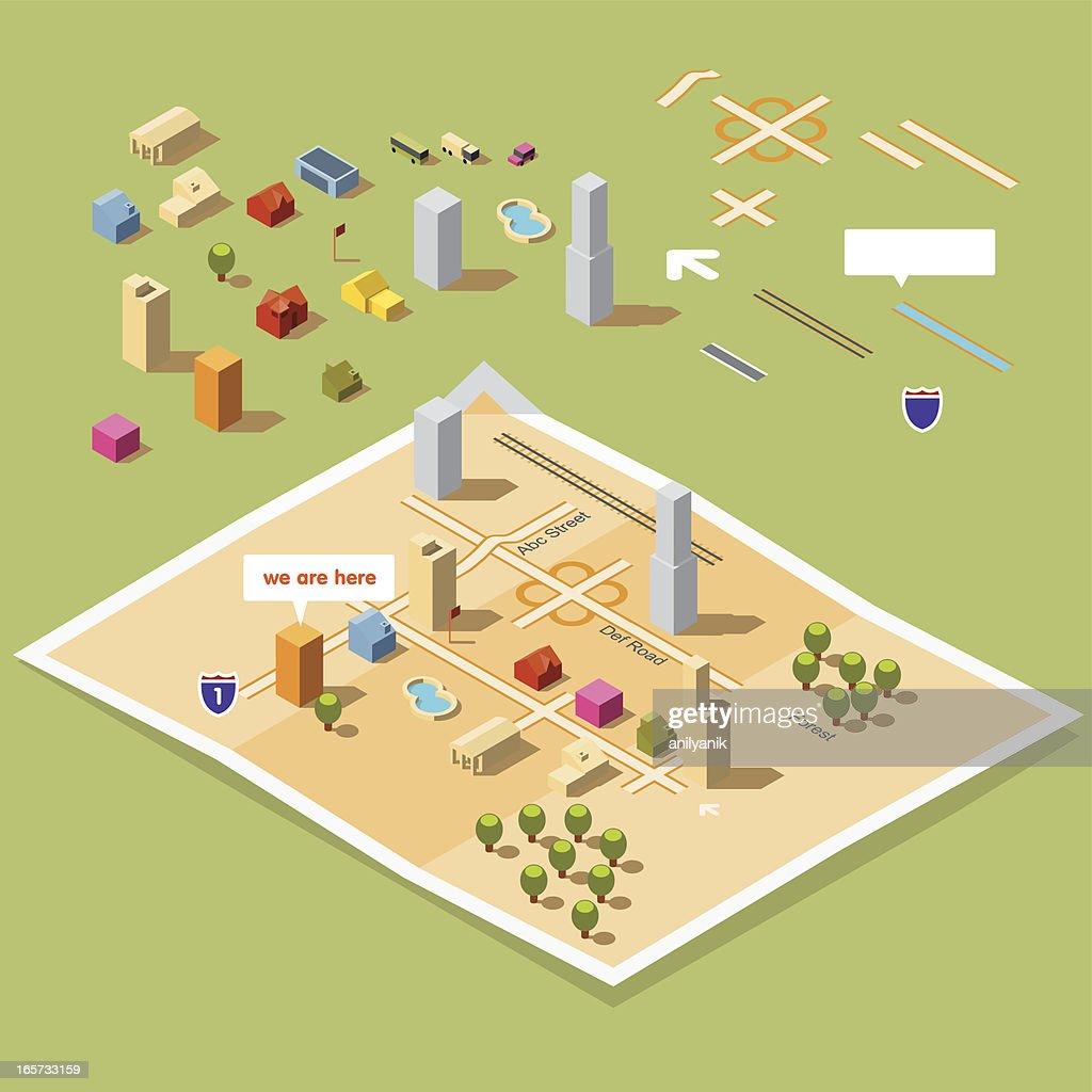map toolkit 30° : stock illustration