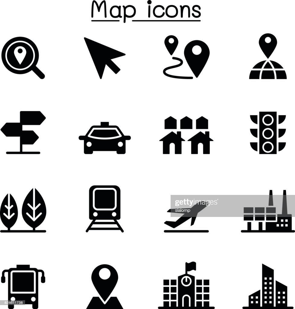 Map & Traffic icons