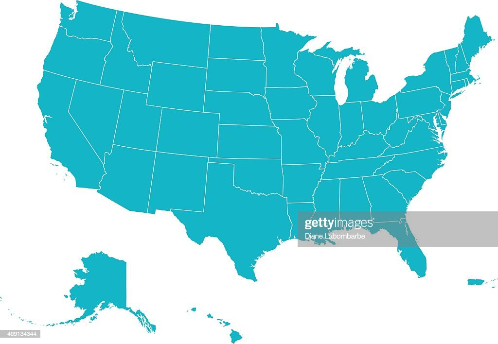 Map United States Of America : stock illustration