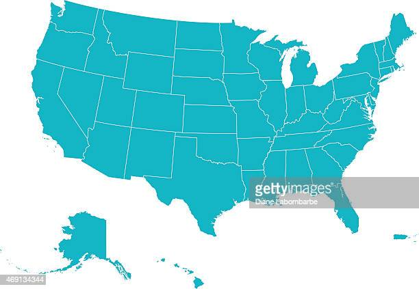 map united states of america - werkzeug stock illustrations