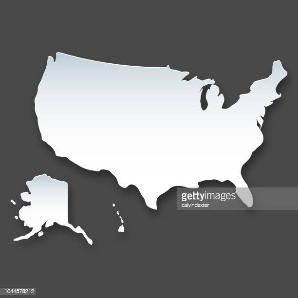 usa map - alaska us state stock illustrations