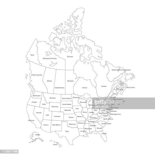 usa map - north america stock illustrations