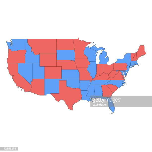 usa map - political rally stock illustrations, clip art, cartoons, & icons