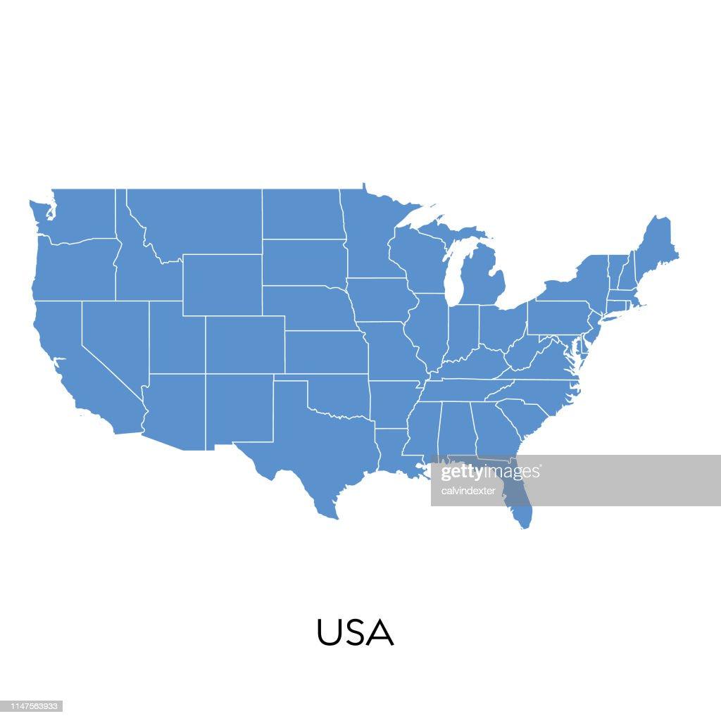 Verenigde Staten kaart : Stockillustraties