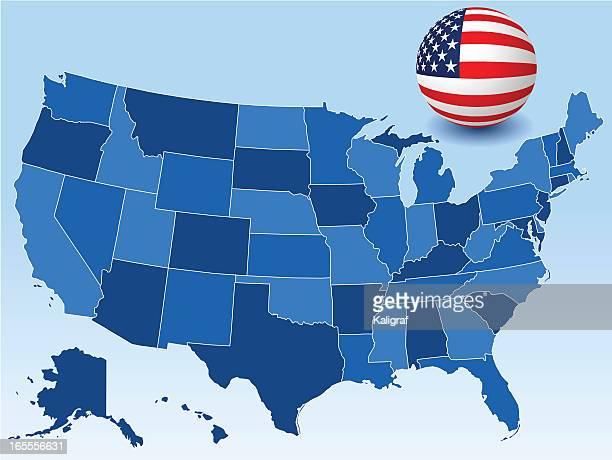ilustrações, clipart, desenhos animados e ícones de estados unidos mapa - geórgia sul dos estados unidos