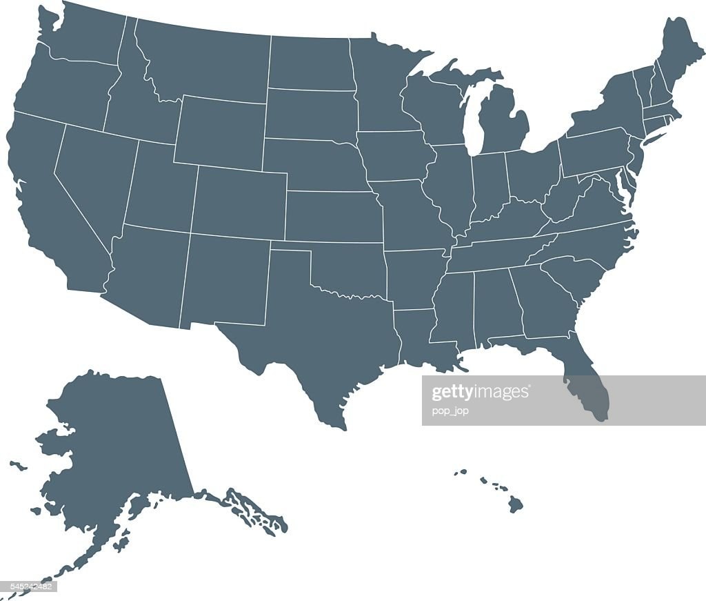 Usa Map Vector Art Getty Images