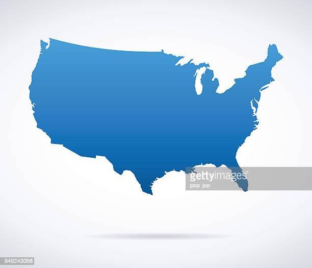 illustrazioni stock, clip art, cartoni animati e icone di tendenza di mappa di stati uniti d'america  - solidità